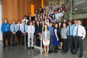 The first class of students for WMU's Homer Stryker M.D. School of Medicine
