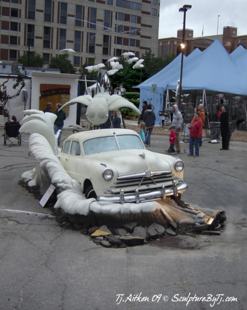 """Car Chase"" by T.J. Aitken at ArtPrize in Grand Rapids"