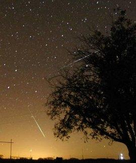 A Geminid meteor shower