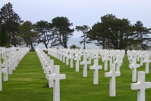 An American cemetary on D-day