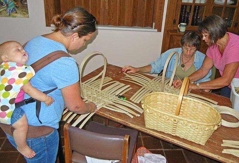 Basket Weaving at Tillers International