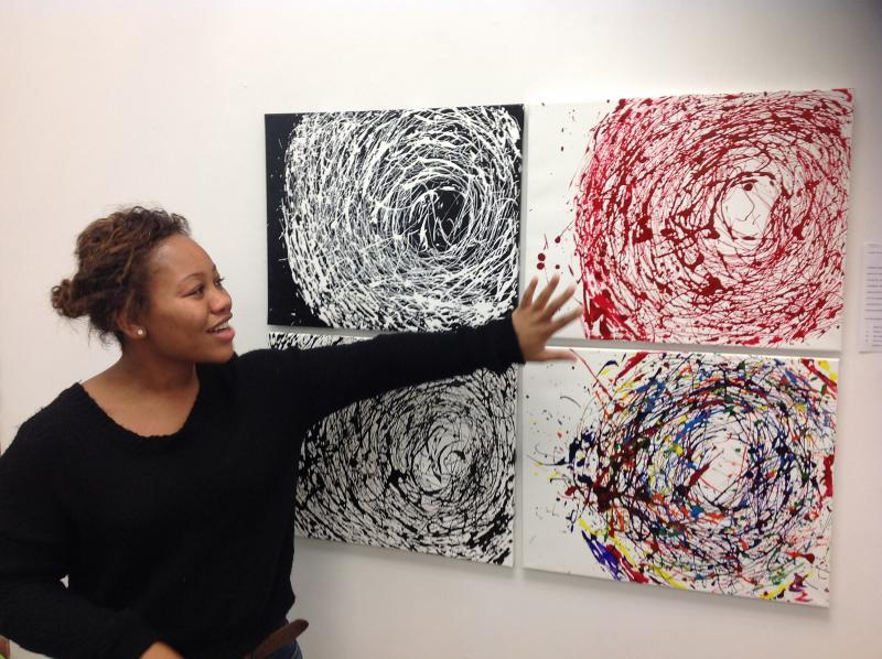 Taylor McCoy talks about her abstracts.