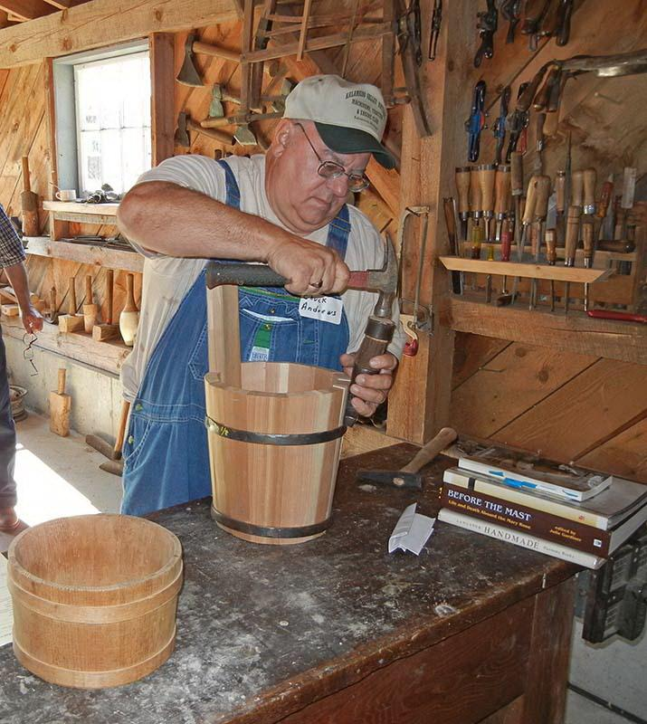 Instructor Chuck Andrews at Tillers International Coopering Class