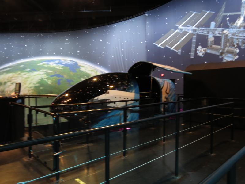 One of the Air Zoo's many flight simulators