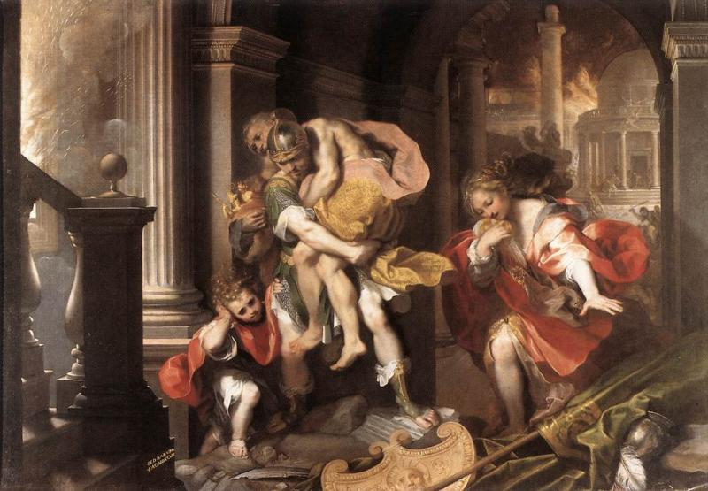 'Aeneas' Flight from Troy' by Federico Barrocci