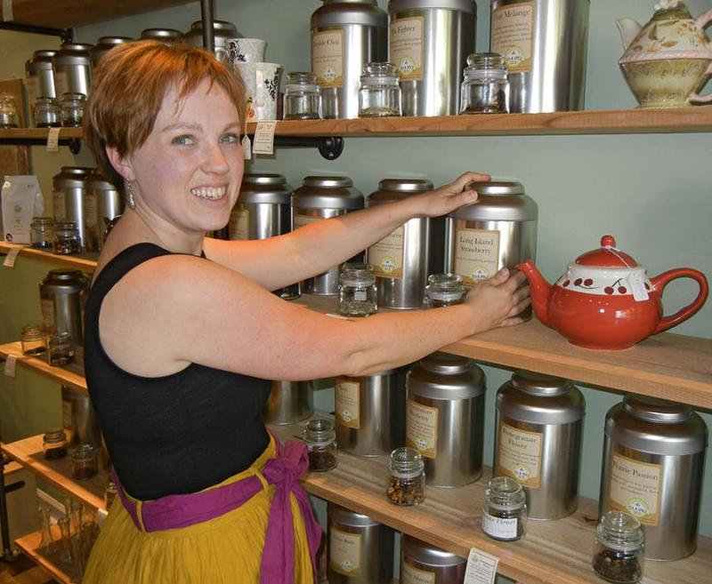 Kelly Zajac at Tudor House Tea & Spice in Kalamazoo
