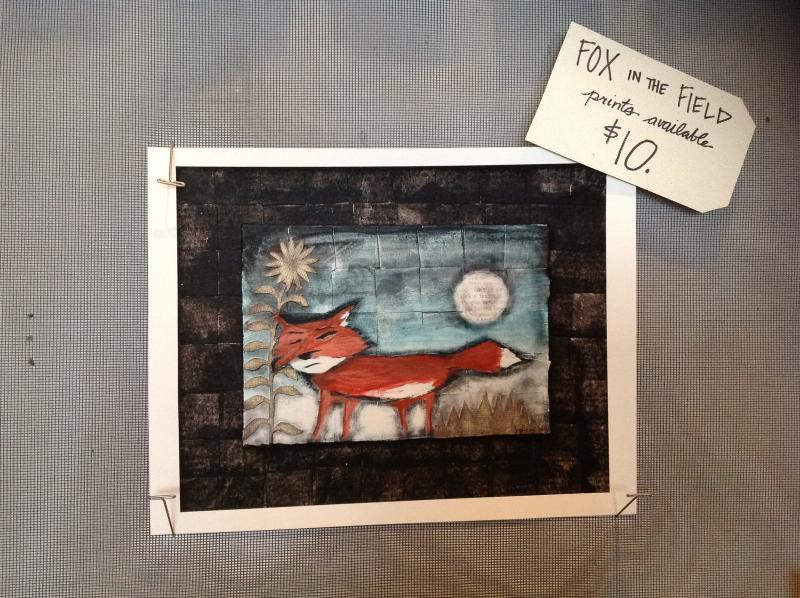 "A print of Pfingst painting ""Fox in a Field"""