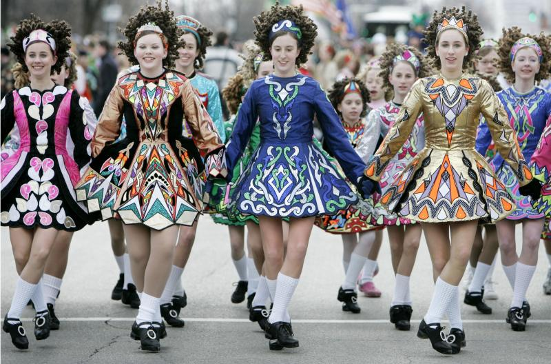 The Sheila Tully School of Irish Dance at a St. Patrick's Day Parade in Chicago, 2007.