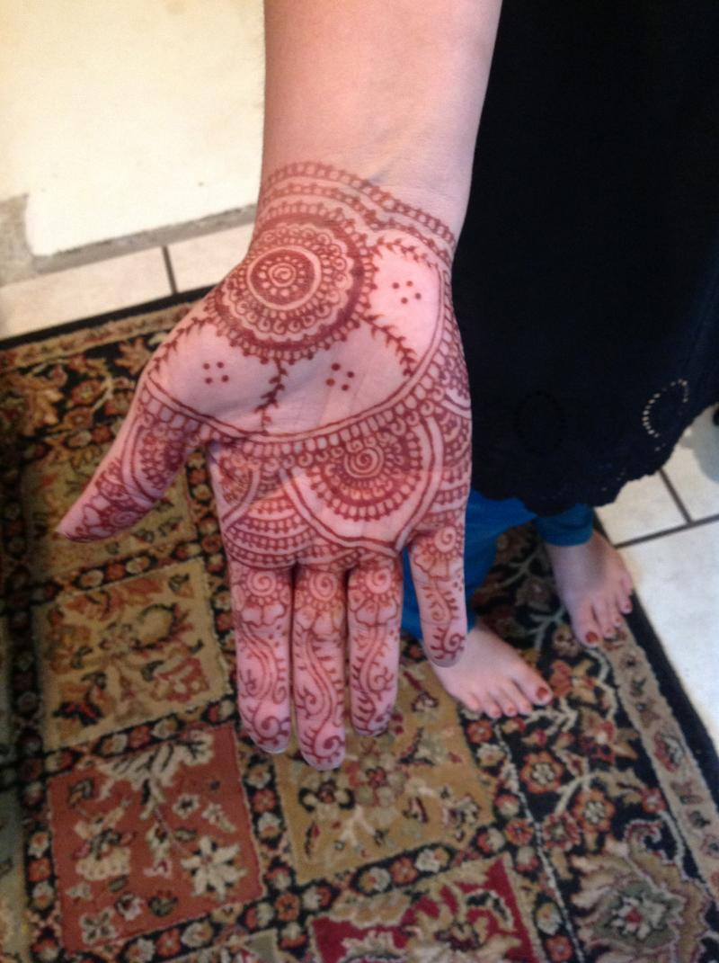 Henna artist Jen Helsel's hand