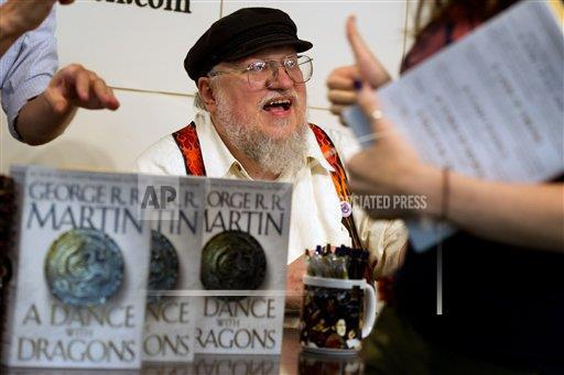 George R.R. Martin, the writer of the popular book series now TV show 'Game of Thrones'