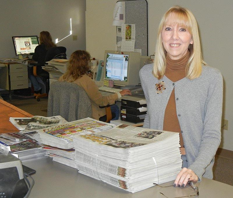 Editor of the Paw Paw Courier Leader Robin Griffin
