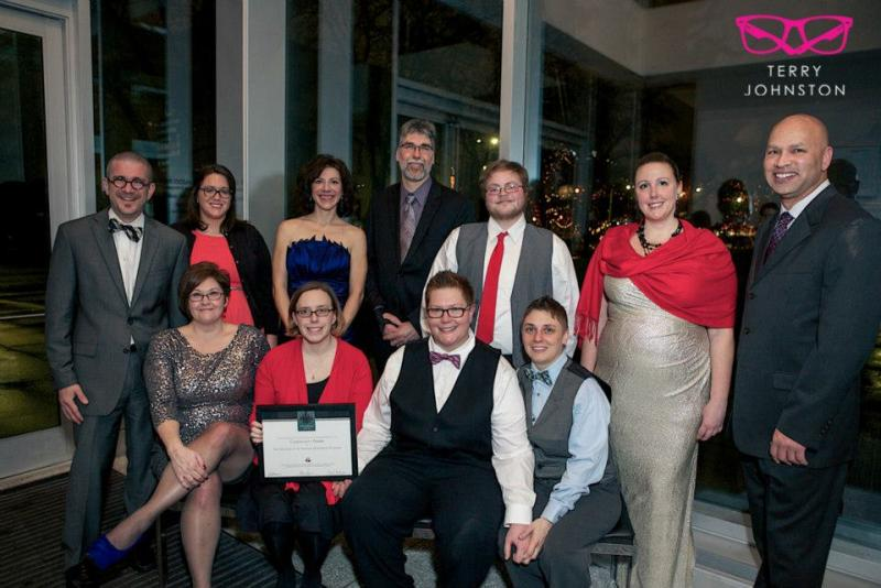 Award recipients pose for a portrait at the Kalamazoo Gay Lesbian Resource Center's 2012 Winter Gala and Fundraiser. This year's event will be held on February 1 at the Kalamazoo Institute of Arts