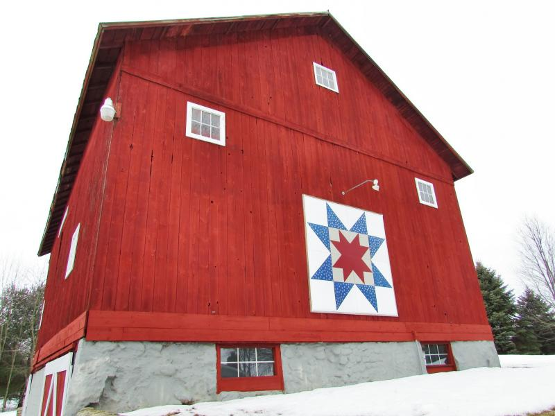 "Titled ""North Star,"" this barn quilt served as Rinehart's inspiration for the entire trail. It was hung in 2008."