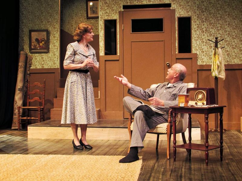 Brigette Sitarski and Ron Centers play a husband and wife who are moving out of their home in the neighborhood.