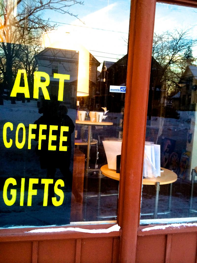 Inside of Lotsa Little Things, an Art Hop stop and supporter. Last month, Art Hop was dealt a surprising blow: their 15-year partner, Downtown Kalamazoo Incorporated was forced to cut their financial support down from 50 to 10,000 for the year.