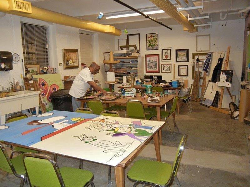 Louis Cubille in his studio