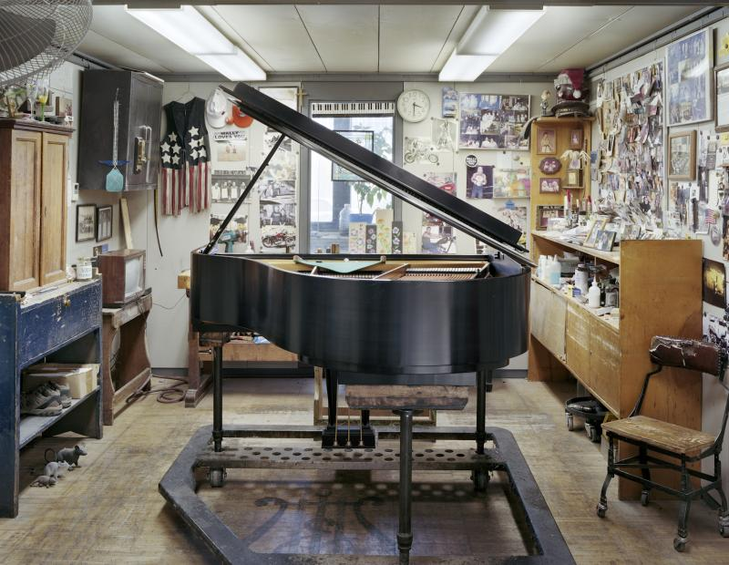 """Wally's World."" From the exhibition '""Inside Steinway"" at the Kalamazoo Institute of Arts."