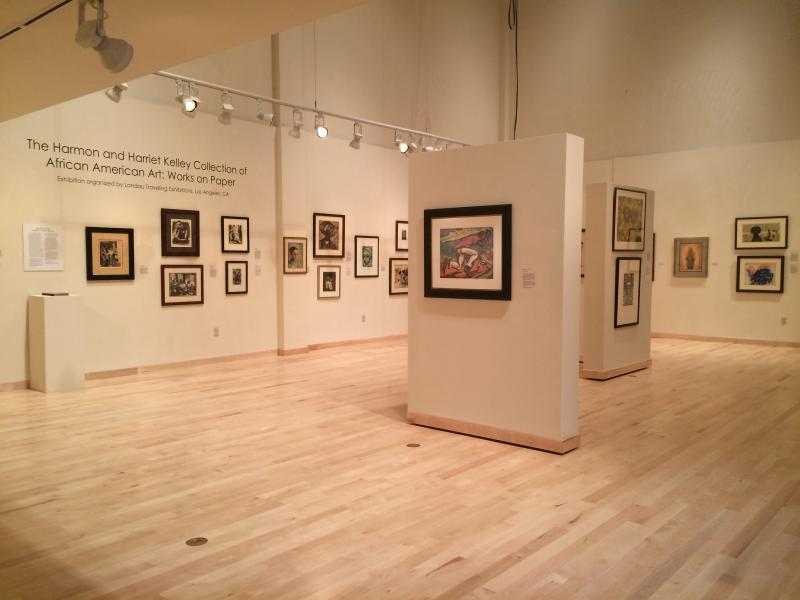 The Harmon & Harriet Kelley Collection of African American Art: Works On Paper is located in the main gallery of the Krasl Art Center.