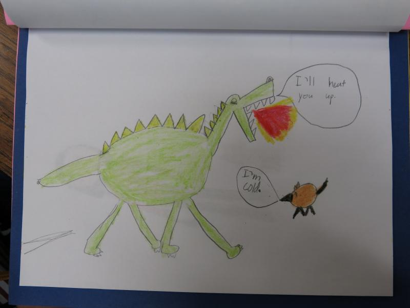 Winchell second-grader Simone created this drawing.
