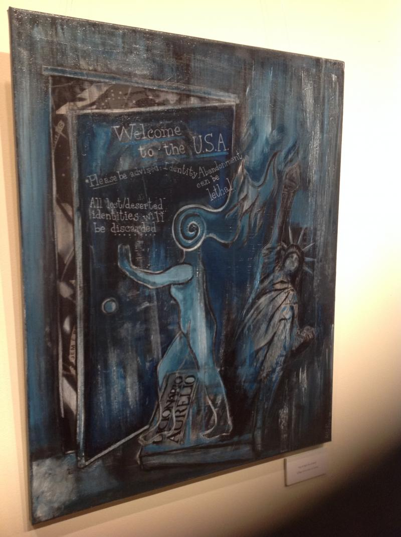 """The first work in the """"Assimilation"""" part of Pye's exhibit"""