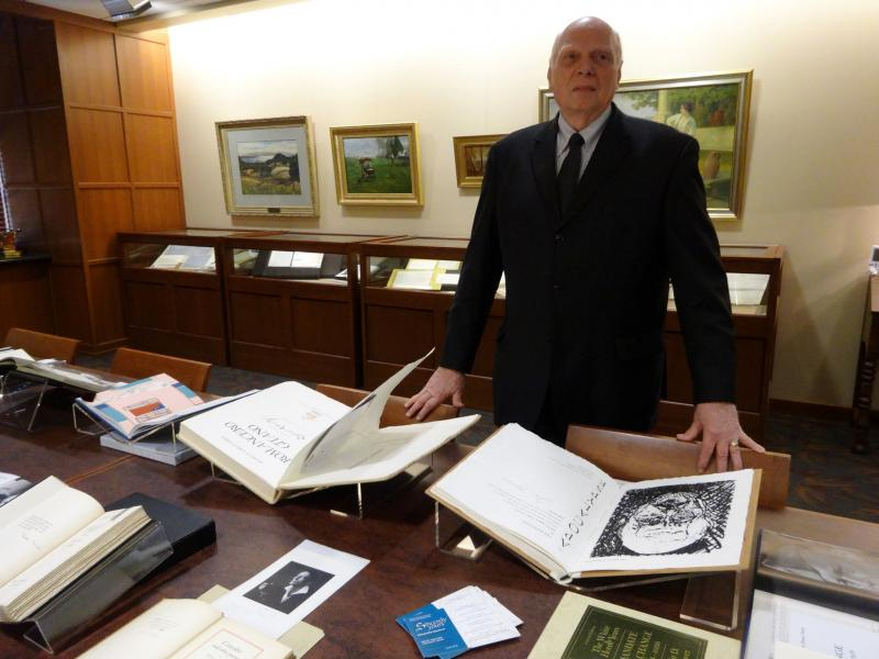 Curator Paul Smithson at the A.M. Todd Rare Book Room