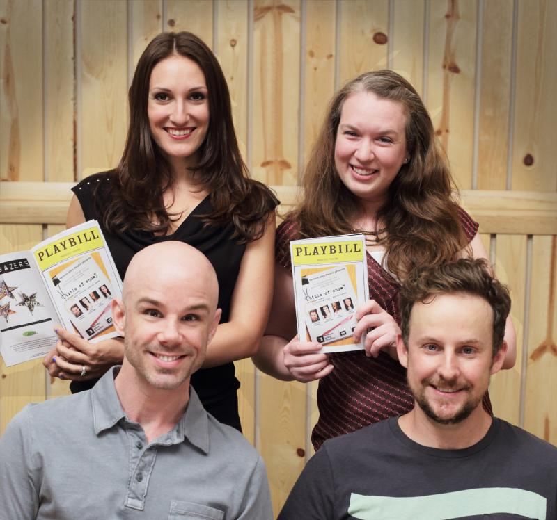 The cast of Title of Show at Farmers Alley Theatre in Kalamazoo