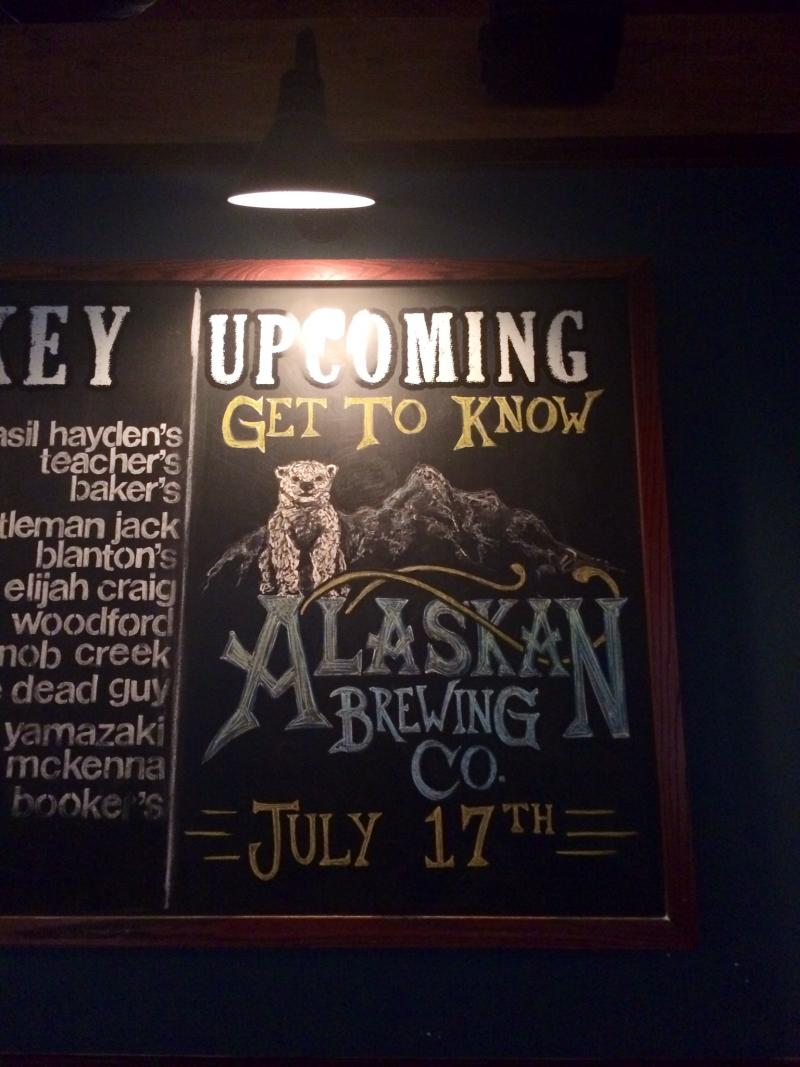 The completed board, illustrated by artist Alyssa Prince for Central City Tap House.