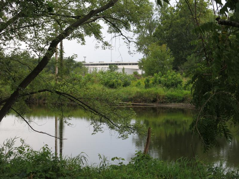 The Kalamazoo River, viewed from the park.