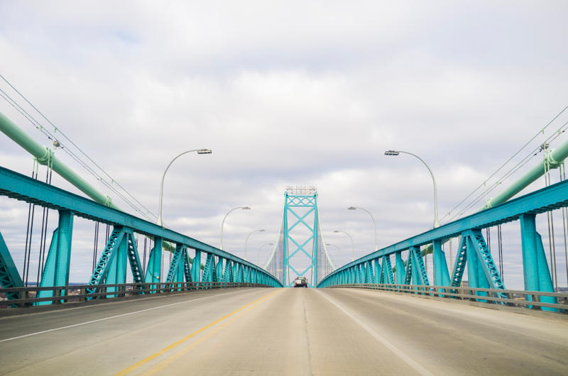 Ambassador Bridge linking Detroit and Windsor - file photo