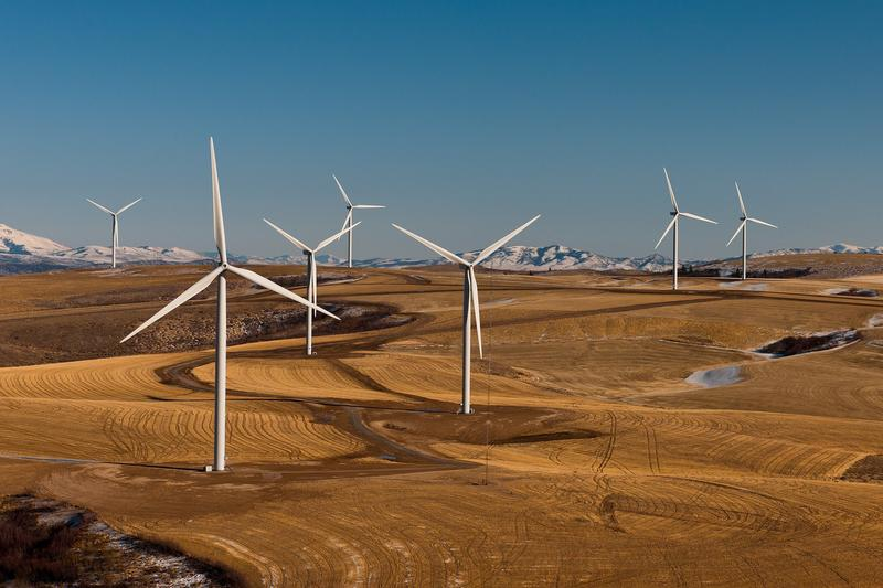 A wind farm in Idaho (file photo)