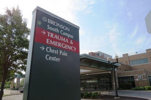 Bronson Hospital in Kalamazoo - file photo from WMUK