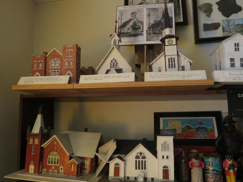 Murphy Darden's models of black churches in Kalamazoo