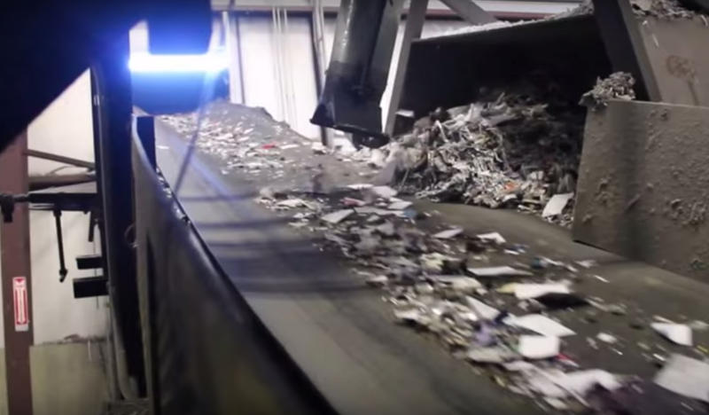 The Material Recovery Facility (MRF) sorting recyclables