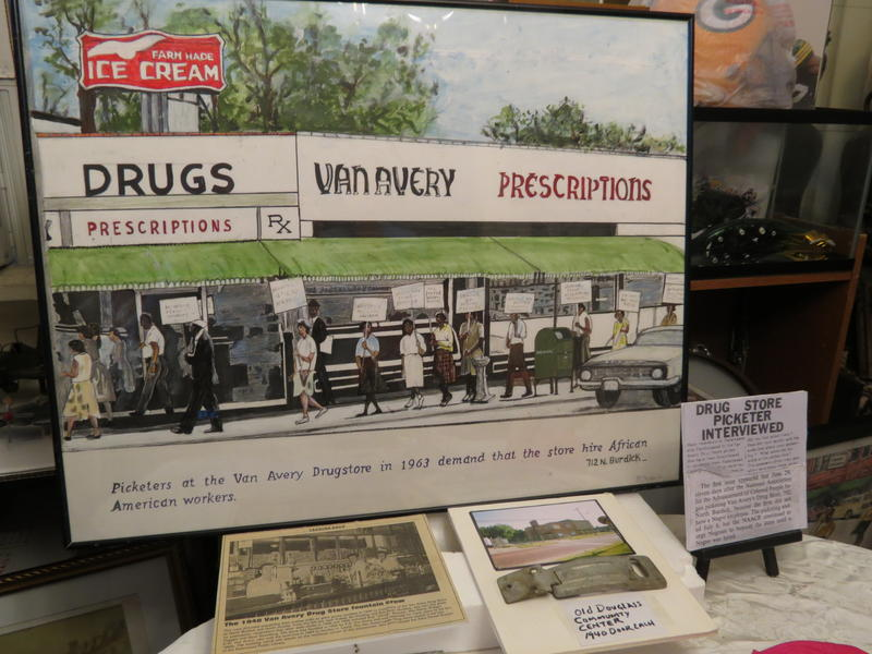 Darden's depcition of the Van Avery Drugstore protest