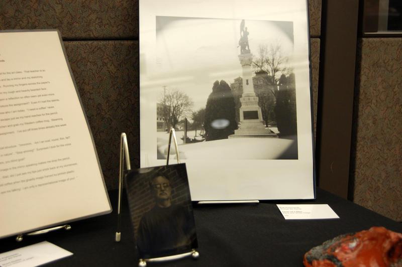 Bob Psalmond's art at Kellogg Community College's library
