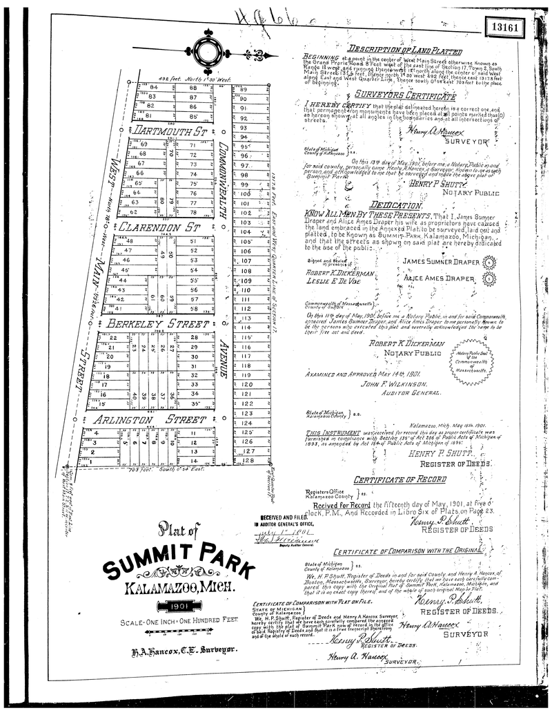 Summit Park was added in 1901.