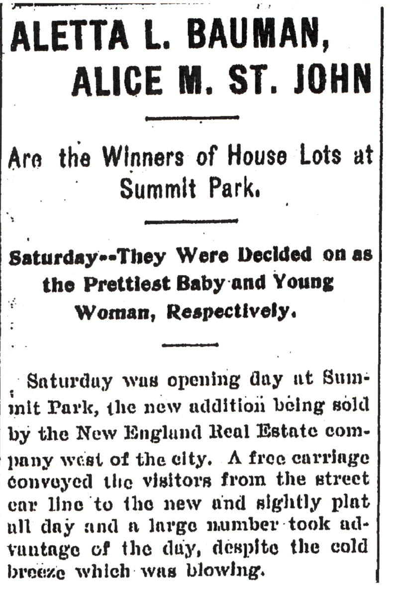 """The Kalamazoo Gazette covered the """"prettiest baby and young woman"""" contest"""