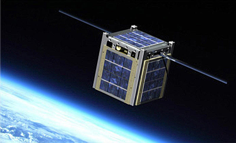 An artist rendering of Montana State University's Explorer 1 CubeSat