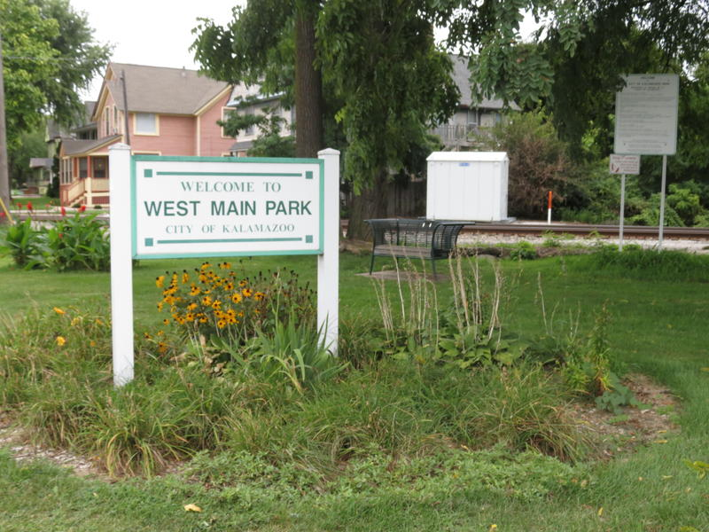 West Main Park at the corner of Elm and West Main streets