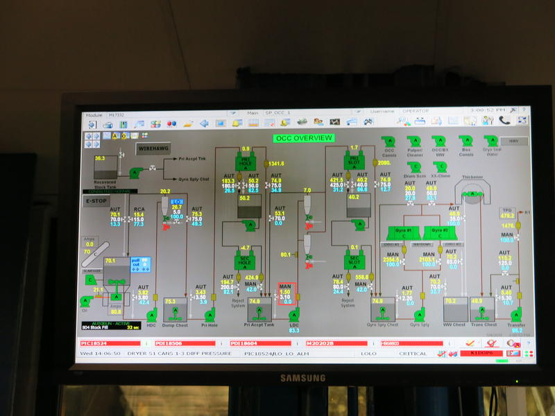 Farrell says paper mills now use automation to track many parts of the process.