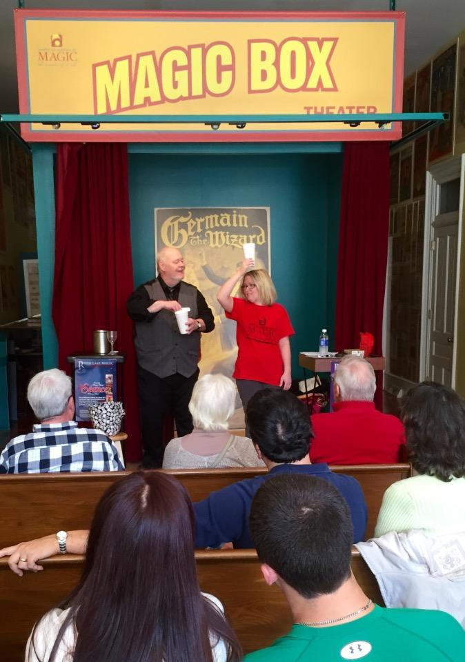Magician Ron Carnell of Colon regularly performs at the American Museum of Magic.