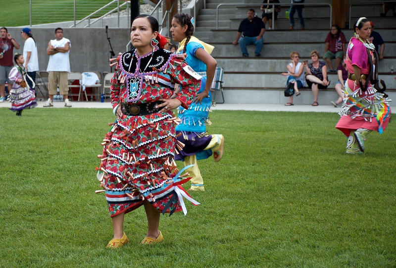 Jingle dress dancers at the 1st Annual Sweet Grass Moon Pow Wow
