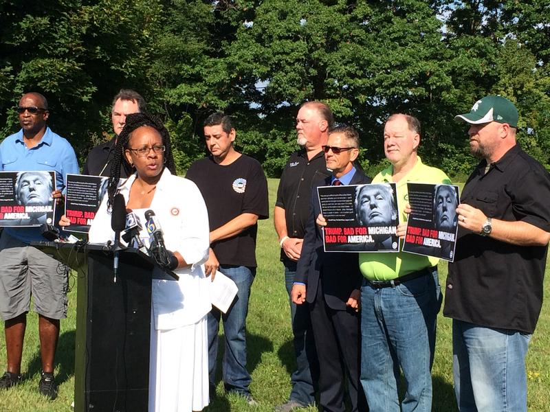 Autoworker of UAW Local 602, Anita Dawson says Trump's policies are a threat to working families.