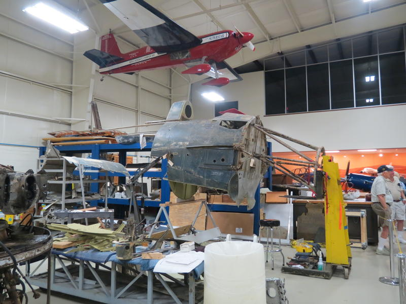 The Wildcat is in separate parts right now as volunteers work to restore each piece of the plane