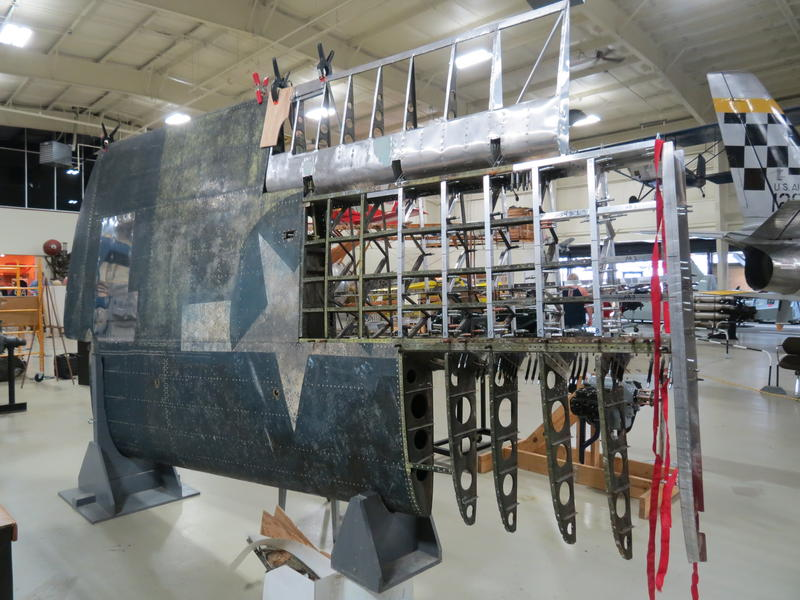 One wing of the FM-2 Wildcat