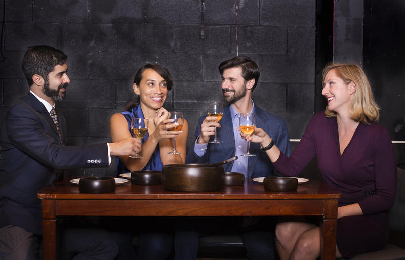 From left to right: Actors Damien Seperi, Bianca Washington, Mitchell Koory, Kate Thomsen