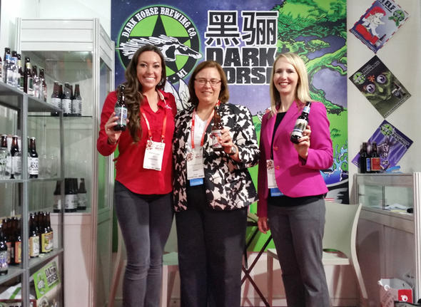 Shannon Long, Founder & CEO of Brew Export; Jamie Clover Adams, MDARD Director; & Jamie Zmitko-Somers, MDARD International Marketing Manager