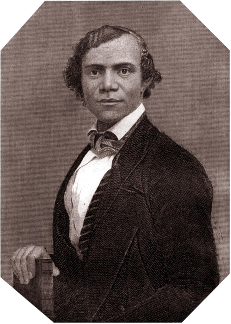 Author, founder of the black newspaper 'The Voice of the Fugitive,' and former slave, Henry Bibb.