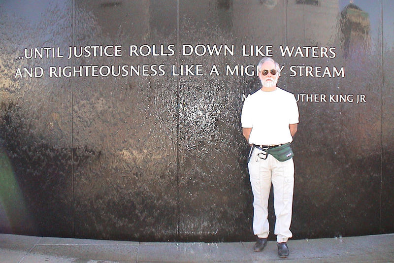 Writer Robert Weir at the Civil Rights Memorial in Montgomery, Alabama