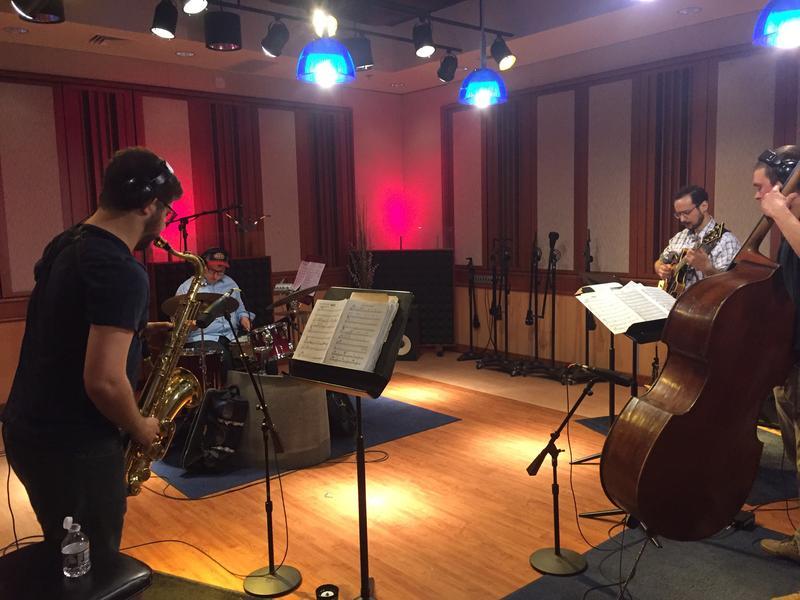 Warming up in the Takeda Studio at WMUK